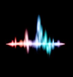 Fluorescent sound wave design vector