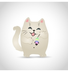 funny little cat vector image vector image