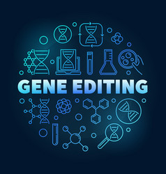 Gene editing circular blue in vector