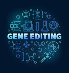 Gene editing circular blue vector