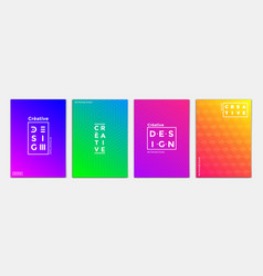 geometric brochure design 2 vector image