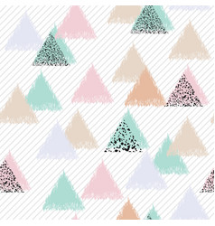 Geometric design with triangles vector