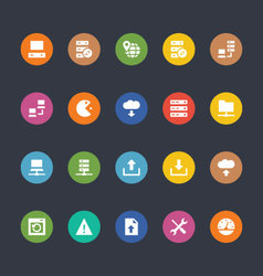 Glyphs Colored Icons 26 vector