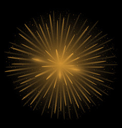 golden realistic fireworks vector image vector image