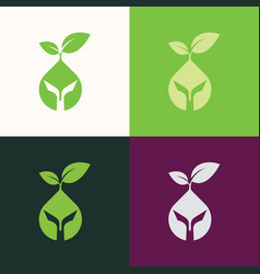 green round logo vector image