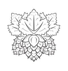 hop monochrome icon vector image