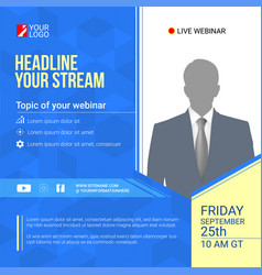 Invite for announcements live webinars vector