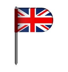Isolated flag of the united kingdom vector