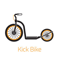 kick scooter outline bw icon or logo vector image