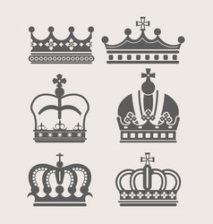 King or queen crown royalty accessory or headdress vector
