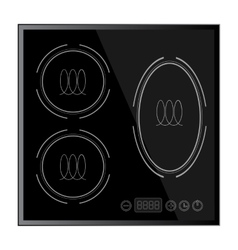 Kitchen - Induction hob household appliances vector image