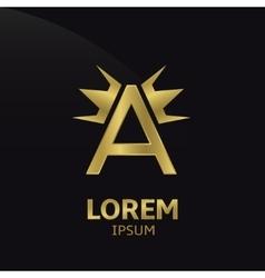 Letter A logo vector image