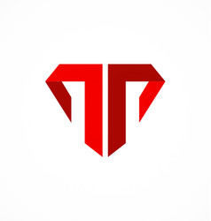 Letter t company logo vector