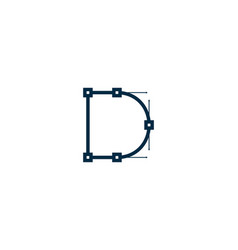 Link letter d logo icon design vector