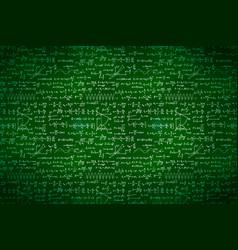 lot basic math equations and formulas white vector image