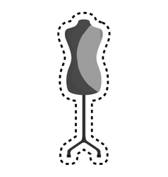 Manequin silhouette isolated icon vector