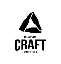 modern craft beer drink logo sign for bar pub vector image