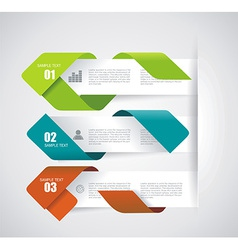 Modern Design Layout - paper progress steps vector image