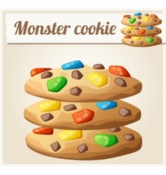 Monster cookies Detailed icon vector image