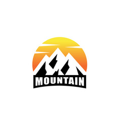 mountain logo design emblem vector image