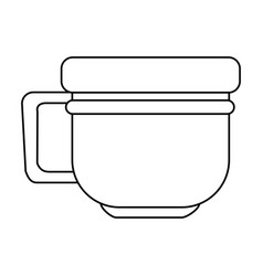 Mug or cup with thicker rim icon image vector