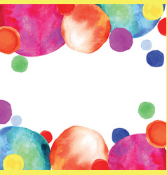 Multicolored orbs watercolor confetti vector