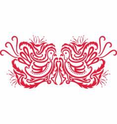 oriental bird pattern vector image