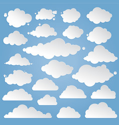 paper clouds set vector image