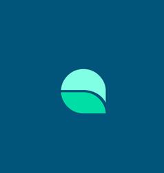 Q in blue green color letter logo alphabet for vector