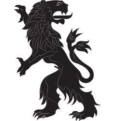 Rampant lion vector
