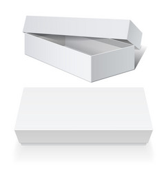 realistic white package cardboard box set vector image