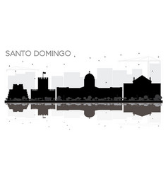 Santo domingo dominican republic city skyline vector