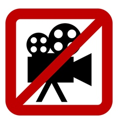 Sign of prohibition of video camera vector image