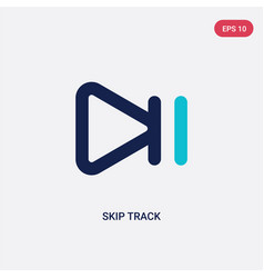 Two color skip track icon from arrows concept vector