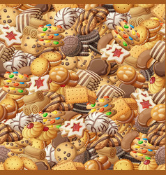 various cookies seamless pattern vector image