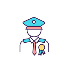 Veteran compensation and pension rgb color icon vector