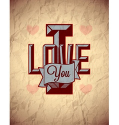 Vintage sign of love vector