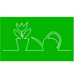 watering can and fl vector image