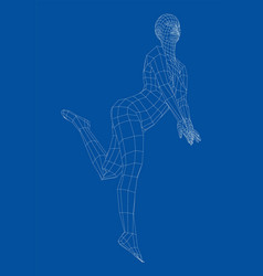 wireframe girl posing in a sexy pose vector image