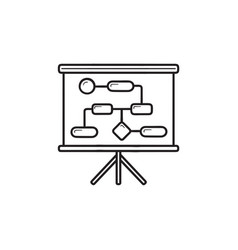 Workflow and planning hand drawn outline doodle vector