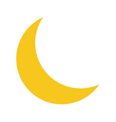 yellow moon icon isolated on background modern fl vector image