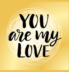you are my love valentines day poster vector image