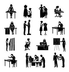 Dressmaker Icons Set vector image