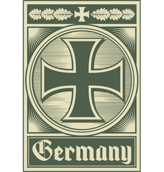 Germany poster vector image vector image