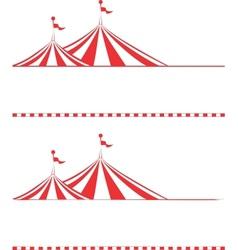 tent borders vector image vector image