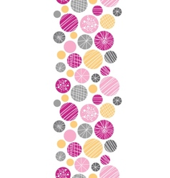 Abstract textured bubbles vertical border seamless vector image