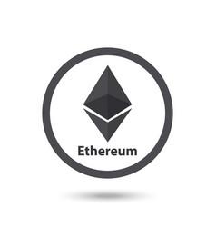 Ethereum symbol chrystal vector
