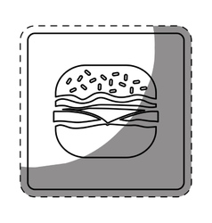 fast food icon image design vector image vector image