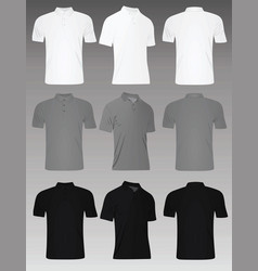 men polo t shirt set vector image vector image