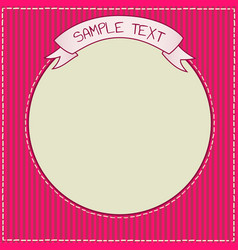 cute red and purple frame template vector image vector image
